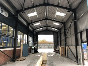 Workshop & MOT Bay – Steel Frame Building